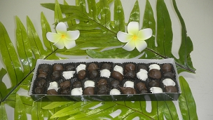 Hand Dipped Whole Macadamia Nuts in Assorted Chocolate 8oz